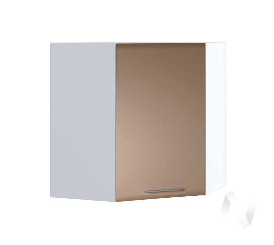 """Кухня """"Люкс"""": Шкаф верхний угловой 590, ШВУ 590 (Шоколад матовый/корпус белый)"""