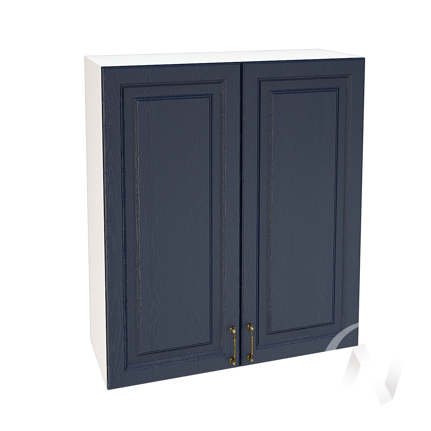 """Кухня """"Ницца"""": Шкаф верхний 809, ШВ 809 (Дуб чернильный/корпус белый)"""