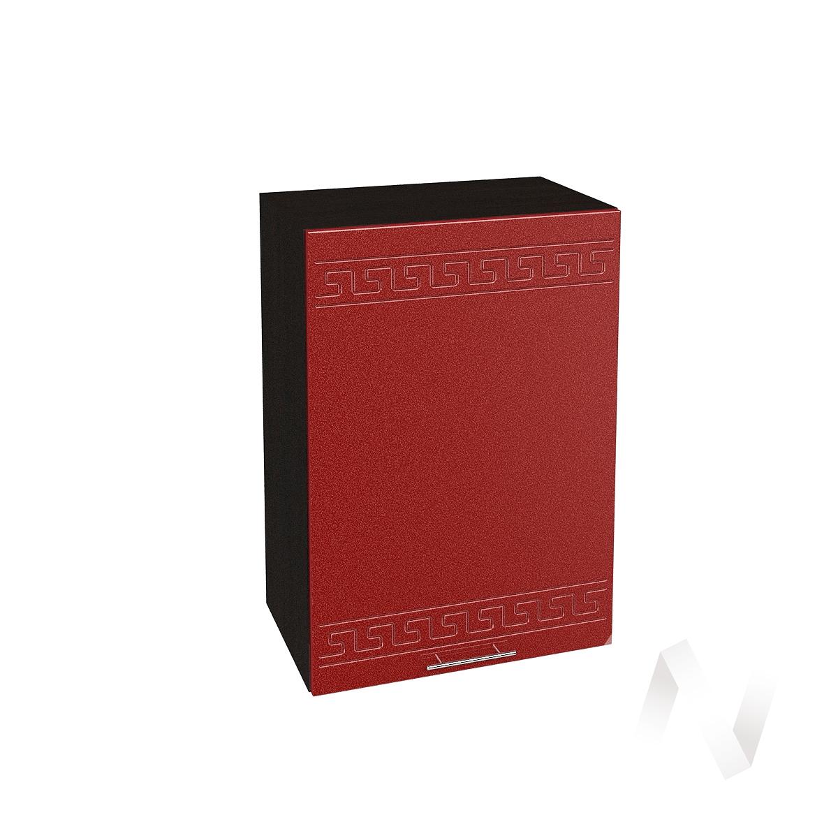 """Кухня """"Греция"""": Шкаф верхний 500, ШВ 500 (гранатовый металлик/корпус венге)"""