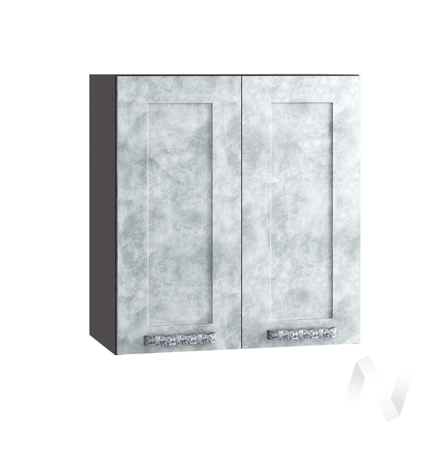 "Кухня ""Лофт"": Шкаф верхний 600, ШВ 600 (Бетон серый/корпус венге)"