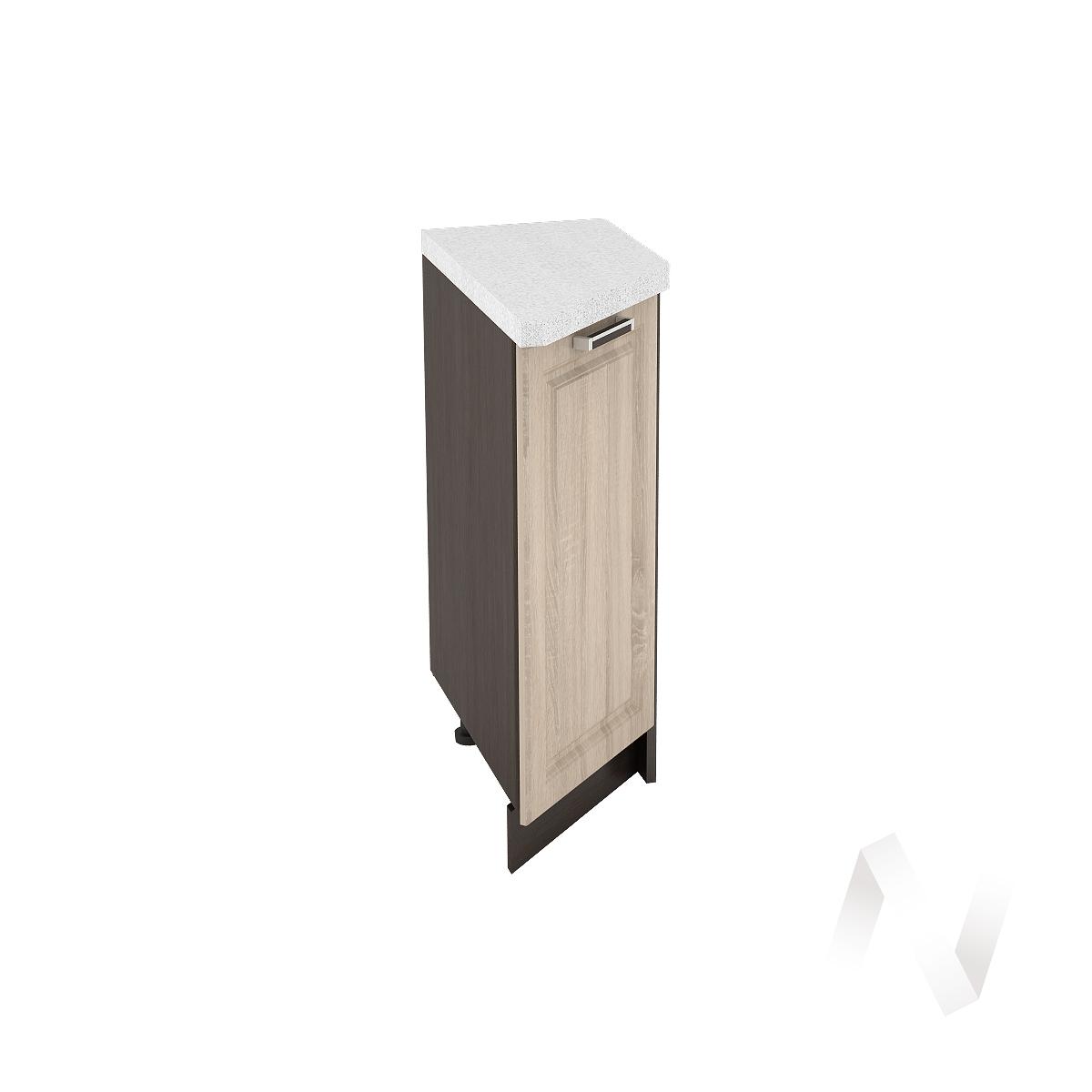 """Кухня """"Прага"""": Шкаф нижний торцевой 300, ШНТ 300 (дуб сонома/корпус венге)"""