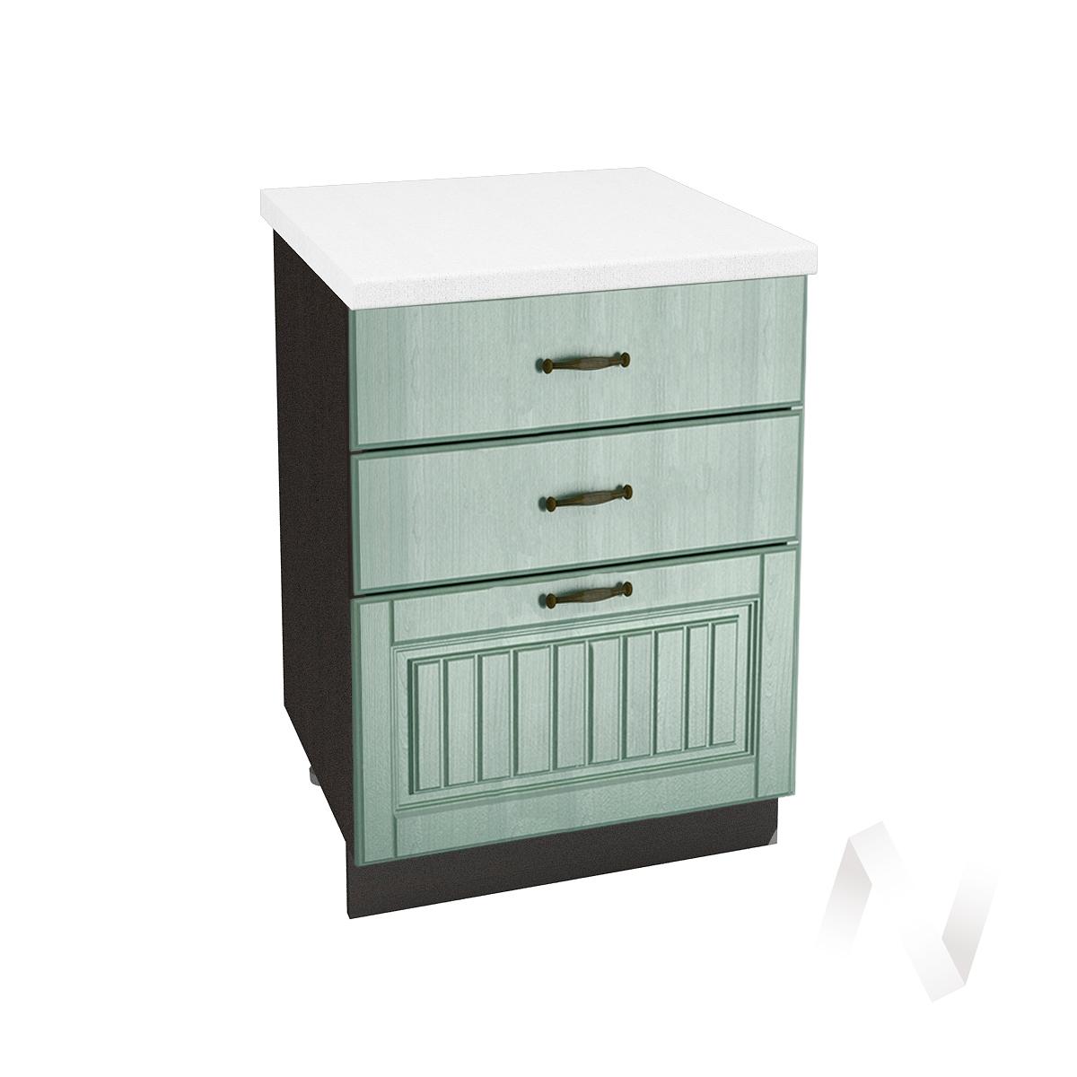 "Кухня ""Прованс"": Шкаф нижний с 3-мя ящиками 600, ШН3Я 600 (корпус венге)"