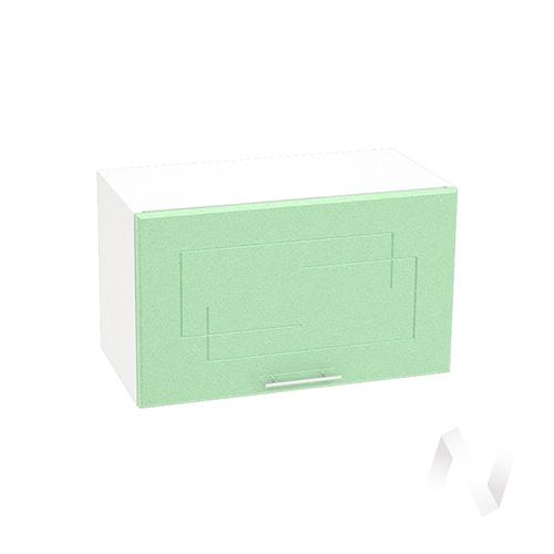 """Кухня """"Вега"""": Шкаф верхний горизонтальный 600, ШВГ 600 (салатовый металлик/корпус белый)"""