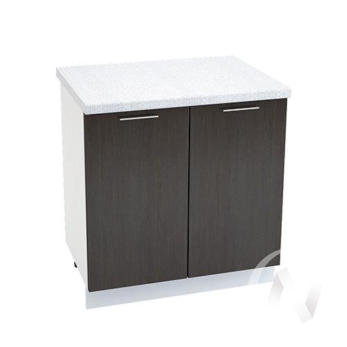 "Кухня ""Валерия-М"": Шкаф нижний 800, ШН 800 (венге/корпус белый)"