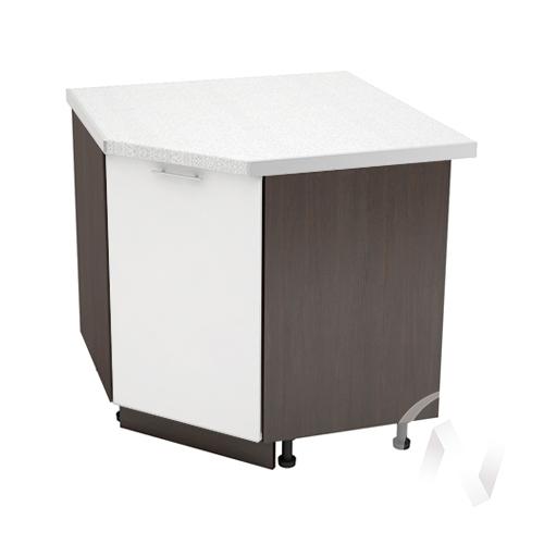 """Кухня """"Валерия-М"""": Шкаф нижний угловой 890, ШНУ 890 (белый глянец/корпус венге)"""