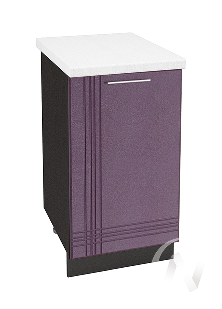 "Кухня ""Струна"": Шкаф нижний 450, ШН 450 (фиолетовый металлик/корпус венге)"