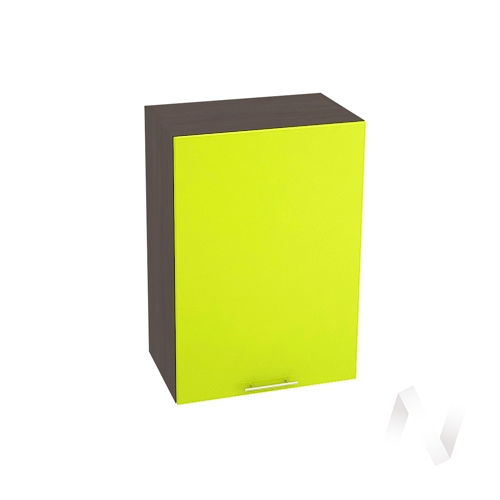 "Кухня ""Валерия-М"": Шкаф верхний 500, ШВ 500 (лайм глянец/корпус венге)"