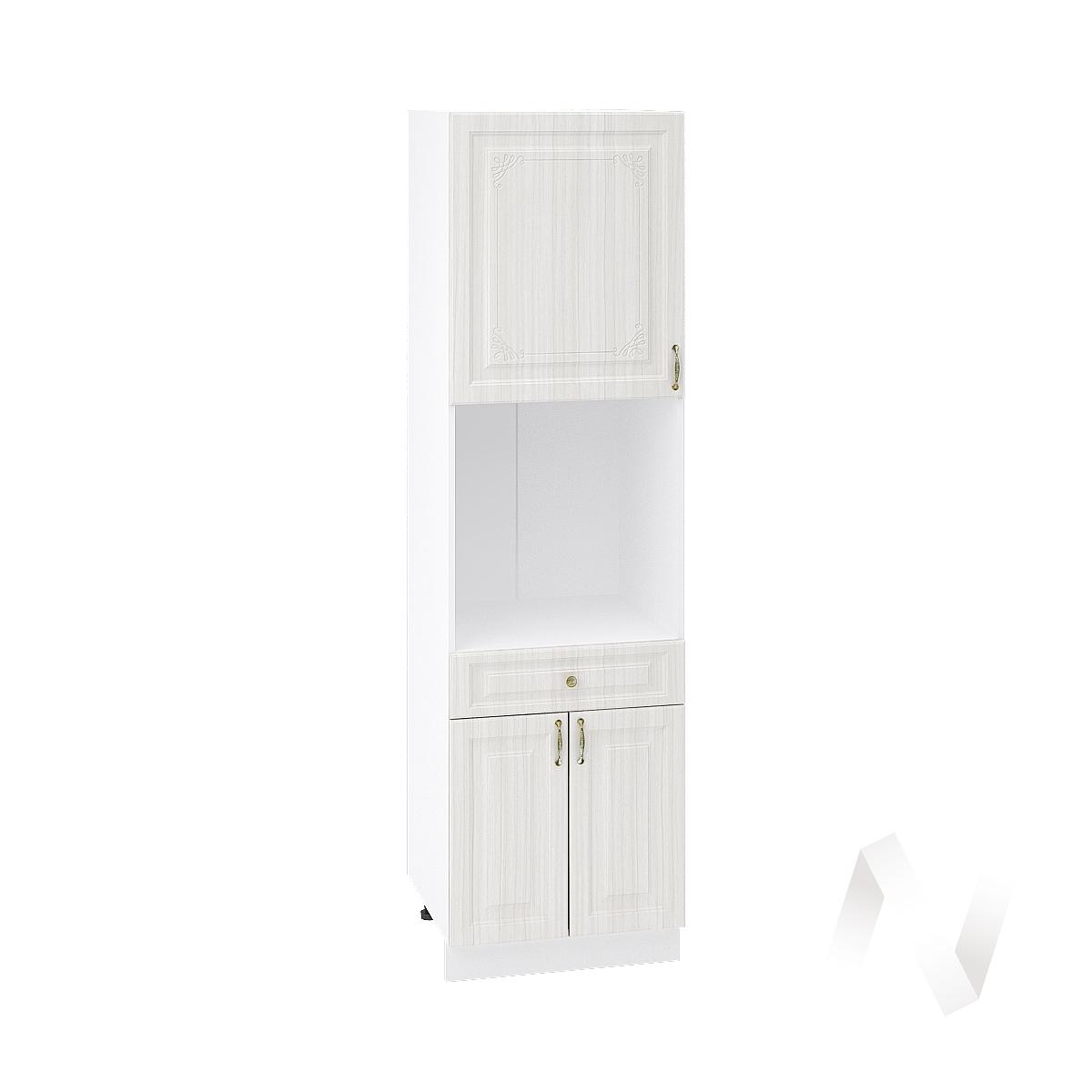 """Кухня """"Виктория"""": Шкаф пенал с ящиком 600, ШП1Я 600 (корпус белый)"""