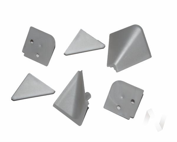 Комплект заглушек д/плинтуса алюминий