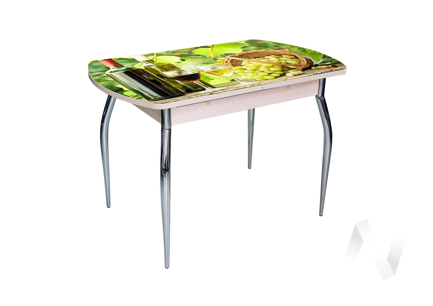 Стол раздвижной Asti-Foto1 дуб/стекло №11  в Новосибирске - интернет магазин Мебельный Проспект