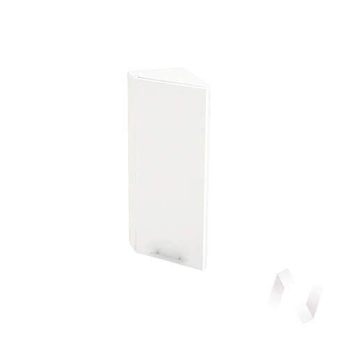 """Кухня """"Валерия-М"""": Шкаф верхний торцевой 224, ШВТ 224 (белый металлик/корпус белый)"""