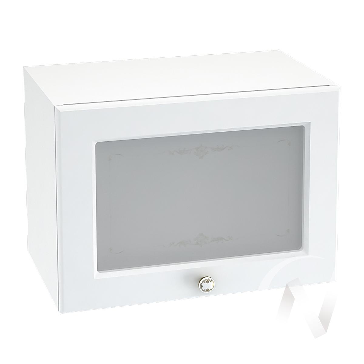 """Кухня """"Шарлиз"""": Шкаф верхний горизонтальный со стеклом 500, ШВГС 500 (корпус белый)"""