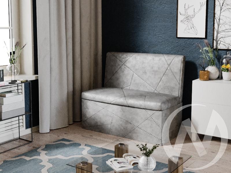 Скамья прямая Сидней ткань (ателье/серый) недорого в Томске — интернет-магазин авторской мебели Экостиль