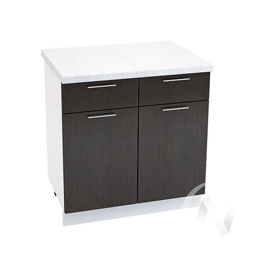 """Кухня """"Валерия-М"""": Шкаф нижний с ящиками 800, ШН1Я 800 (венге/корпус белый)"""
