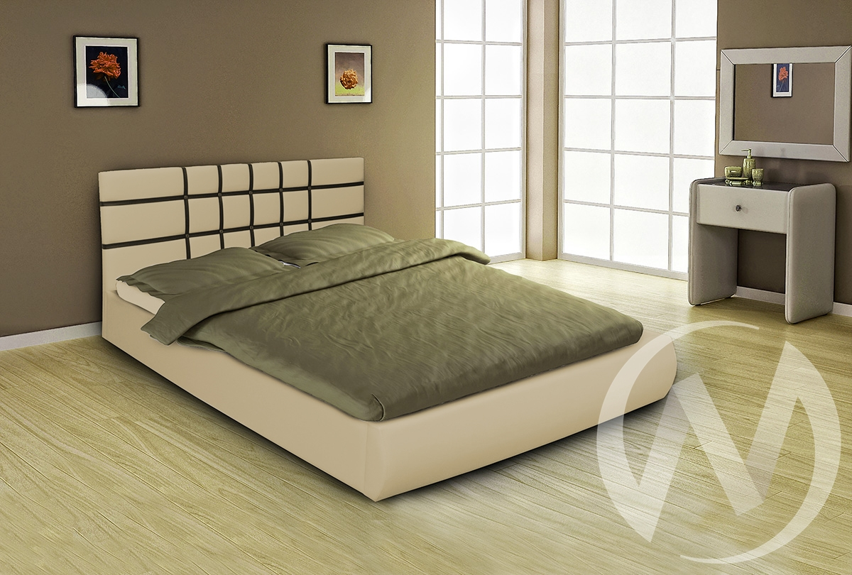 Кровать Классик 1,6 с подъемным механизмом (бежевый)  в Томске — интернет магазин МИРА-мебель