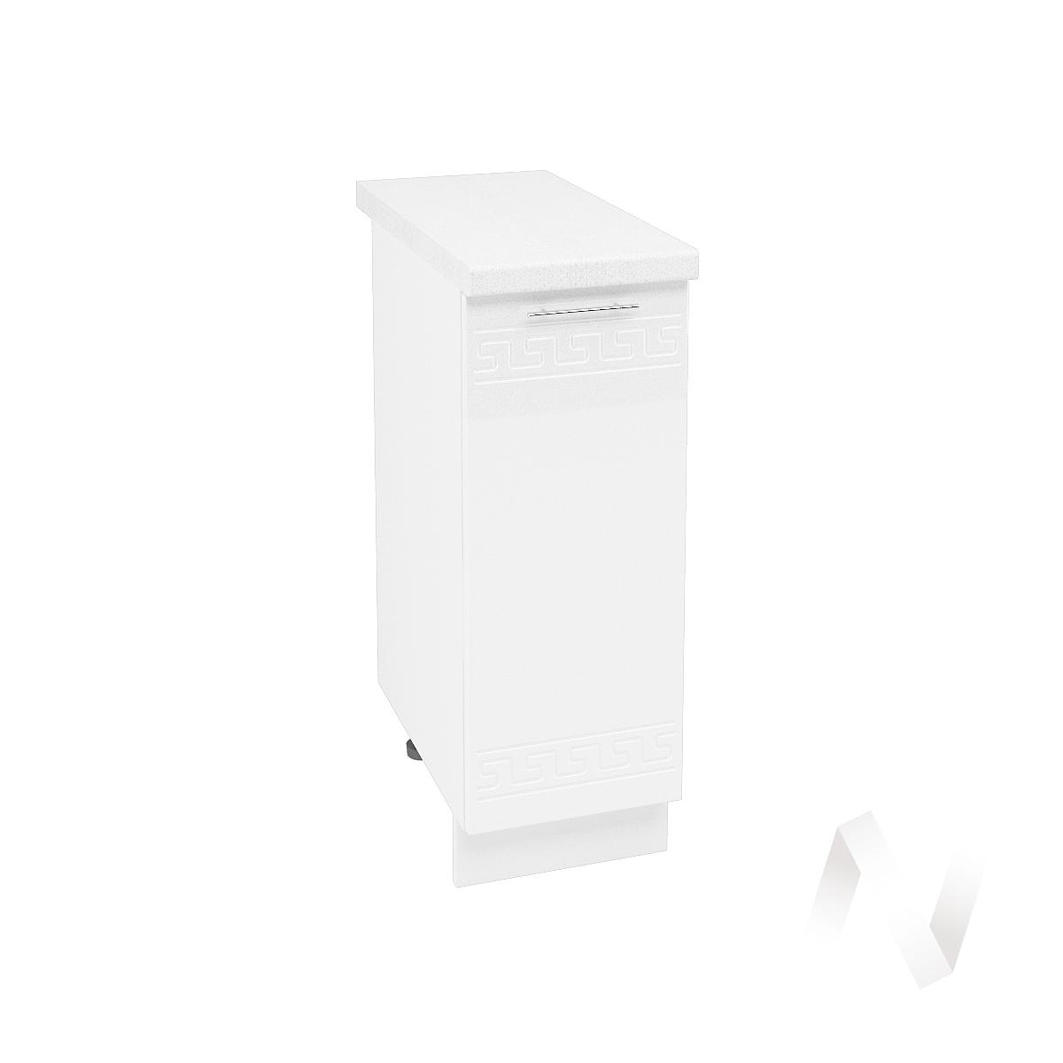 """Кухня """"Греция"""": Шкаф нижний 300, ШН 300 (белый металлик/корпус белый)"""