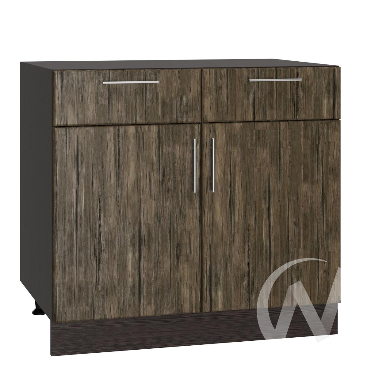 """Кухня """"Норден"""": Шкаф нижний с ящиками 800, ШН1Я 800 (старое дерево/корпус венге)"""