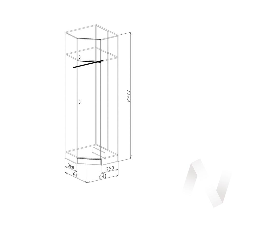 Шкаф угловой Прихожая Вега (ясень шимо темный-мокко глянец) в Томске — авторская мебель Экостиль