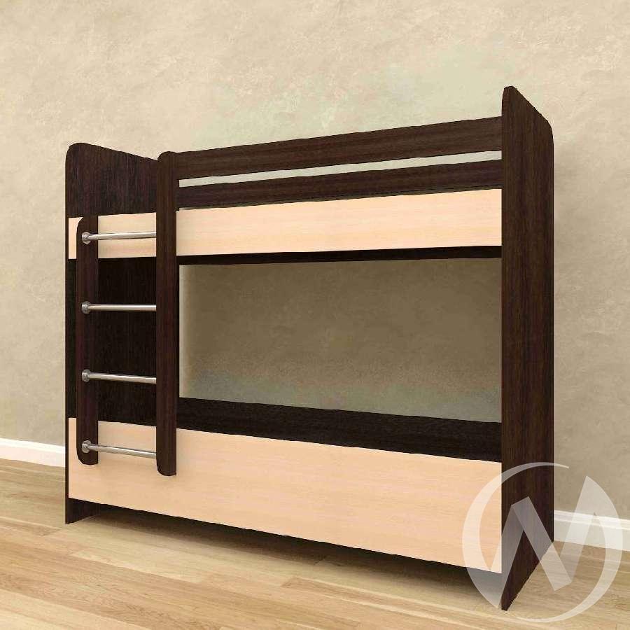 Кровать 2-х ярусная без ящиков б/м (венге тёмный-дуб выбеленный)  в Томске — интернет магазин МИРА-мебель
