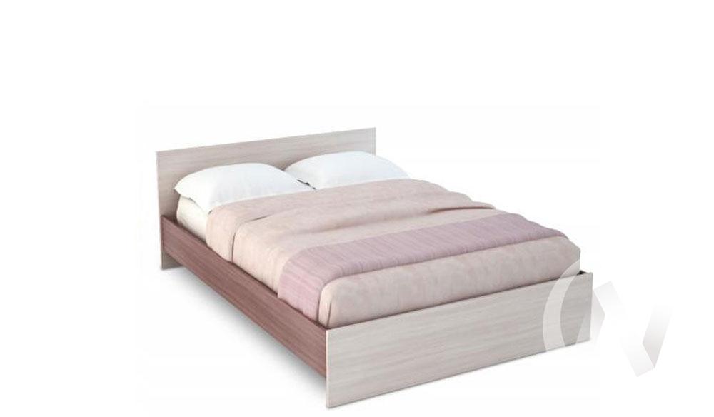 Бася Кровать 1,4 ЛДСП (ясень шимо темный/ясень шимо светлый) КР 557