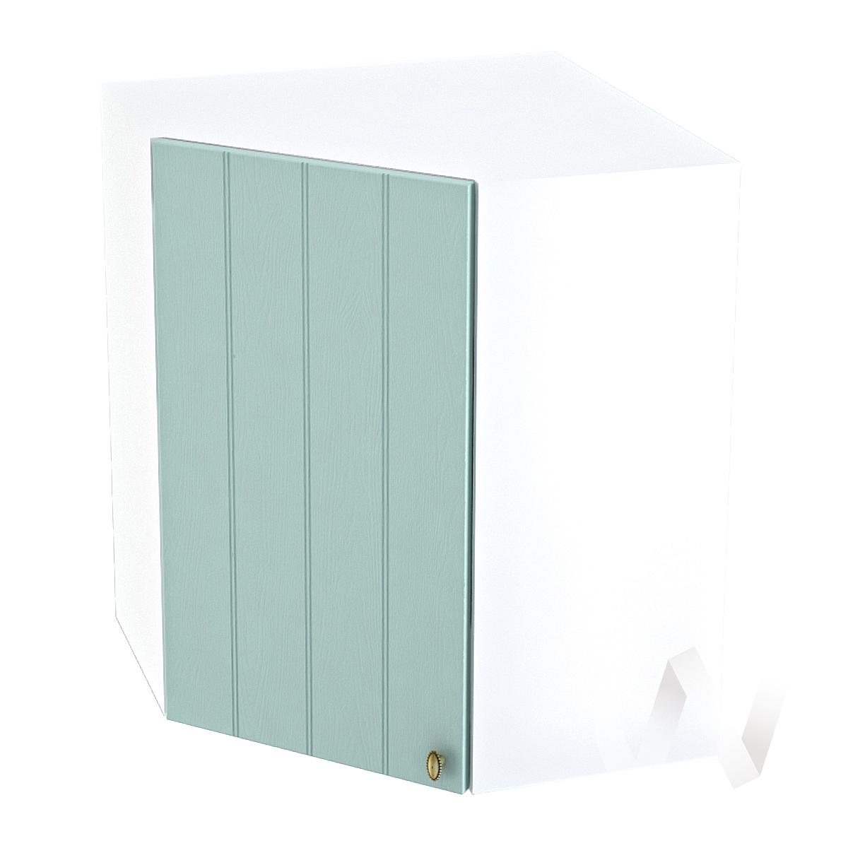 """Кухня """"Прованс"""": Шкаф верхний угловой 590, ШВУ 590 (голубой/корпус белый)"""