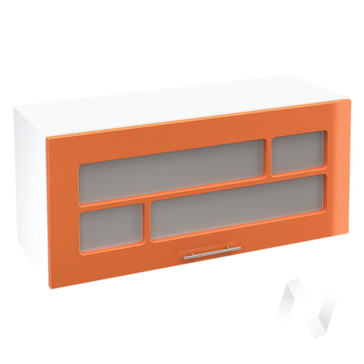 """Кухня """"Техно"""": Шкаф верхний горизонтальный со стеклом 800, ШВГС 800 (корпус белый)"""