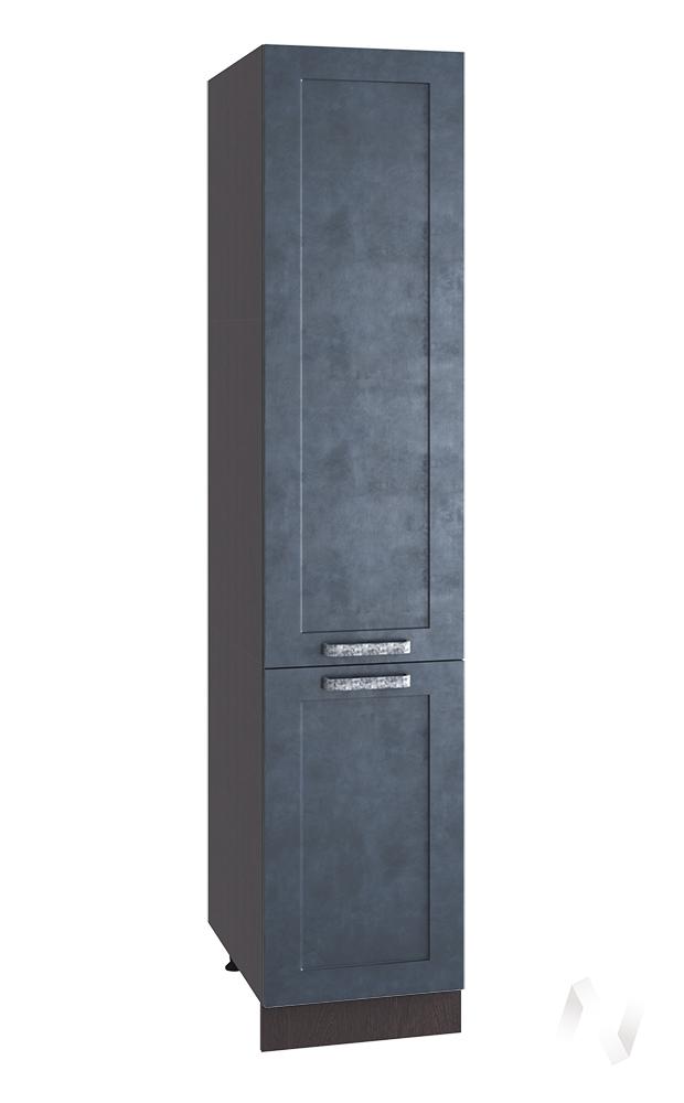 """Кухня """"Лофт"""": Шкаф пенал 400, ШП 400 (Бетон графит/корпус венге)"""