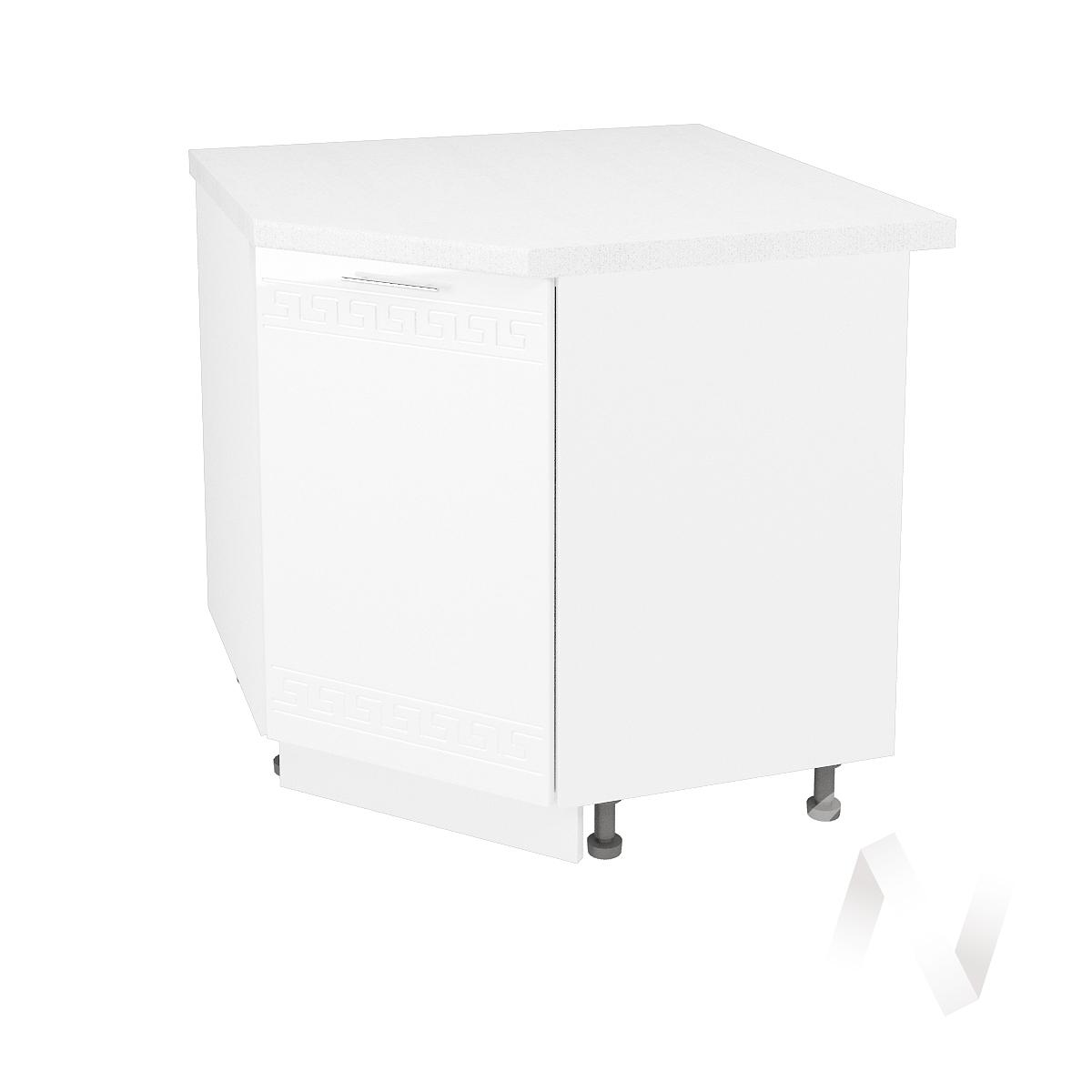 "Кухня ""Греция"": Шкаф нижний угловой 890, ШНУ 890 (белый металлик/корпус белый)"
