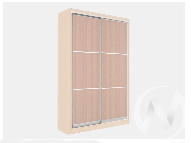 Шкаф-купе «Джонни» 2-х дверный фасад тройной ЛДСП (дуб сонома/дуб мл.)  в Томске — интернет магазин МИРА-мебель