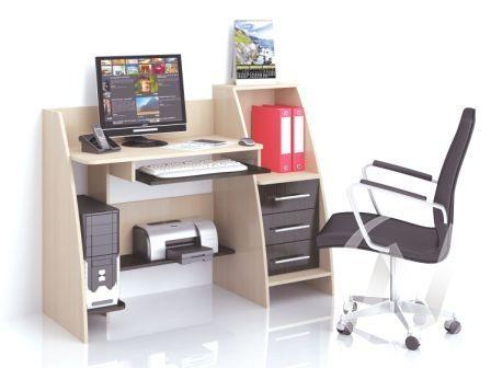 Стол компьютерный Грета-9 (венге/дуб молочный)
