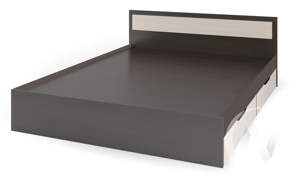 Кровать с ящиками 1,2м КР 606 Спальня Гармония (венге,белфорт/белфорт)