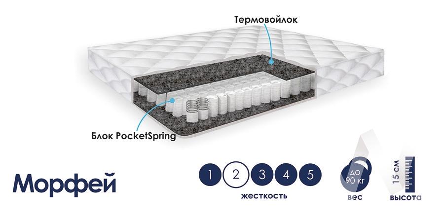 Матрас (800х2000) Морфей  в Томске — интернет магазин МИРА-мебель