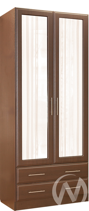 Палермо Шкаф 2х створчатый с ящиками (венге-венге дуглас)