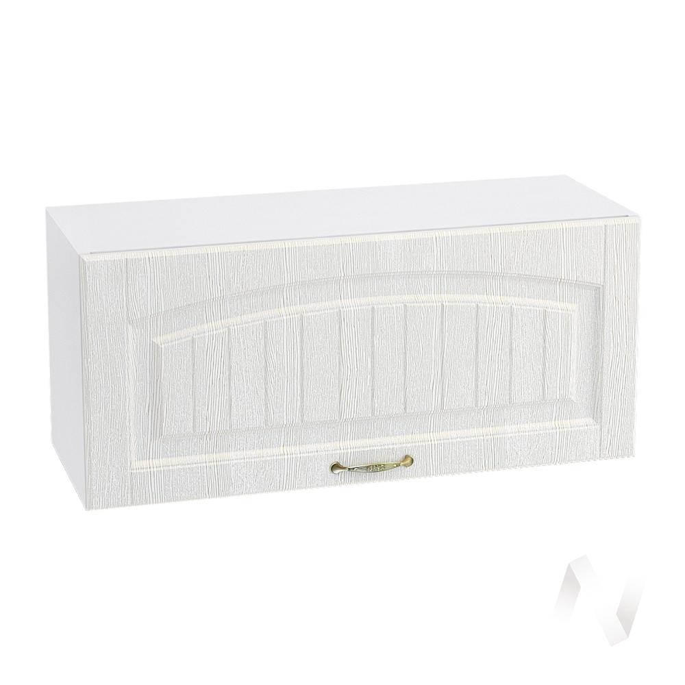 """Кухня """"Верона"""": Шкаф верхний горизонтальный 800, ШВГ 800 (ясень золотистый/корпус белый)"""