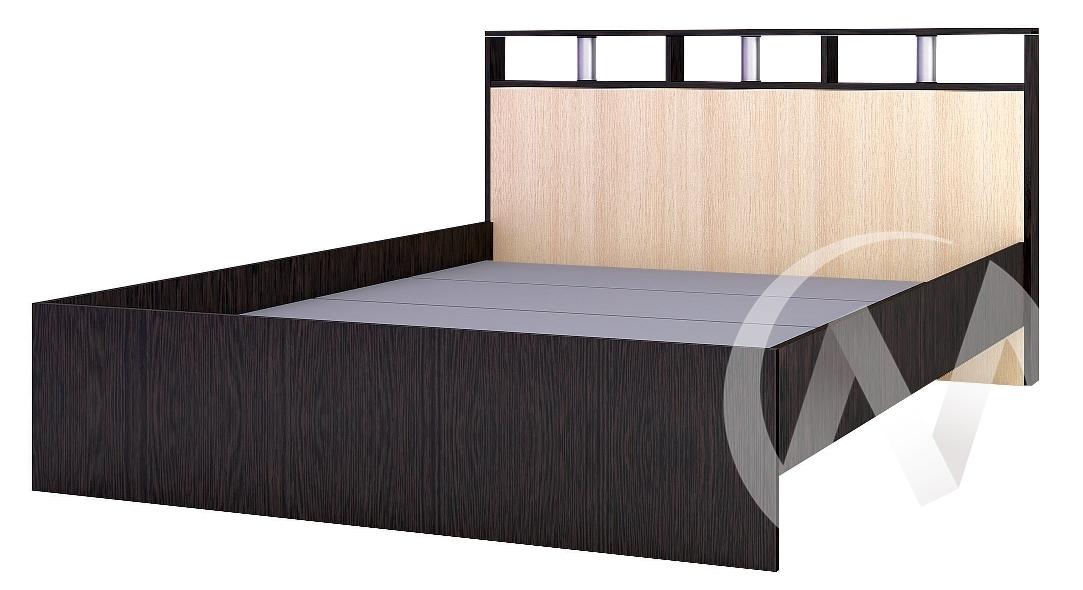 Кровать 1,4м Спальня Ненси-2 (венге/дуб молочный)
