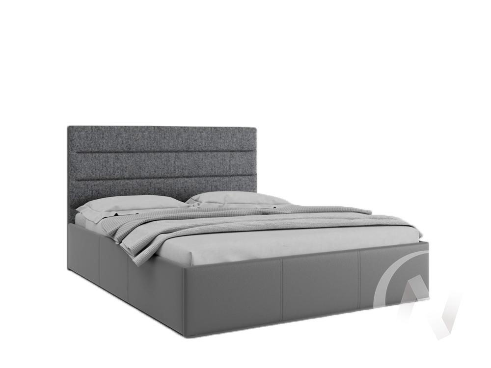 Кровать Севилья 1,6 с подъемным механизмом (кожзам серый/ткань серая)  в Томске — интернет магазин МИРА-мебель