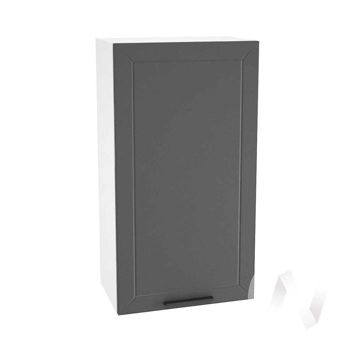 "Кухня ""Глетчер"": Шкаф верхний 509, ШВ 509 (Маренго силк/корпус белый)"