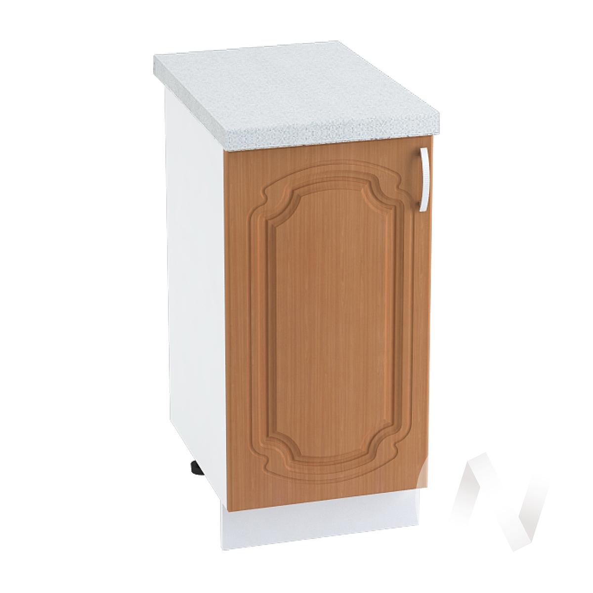 "Кухня ""Настя"": Шкаф нижний 400, ШН 400 (Орех миланский/корпус белый)"