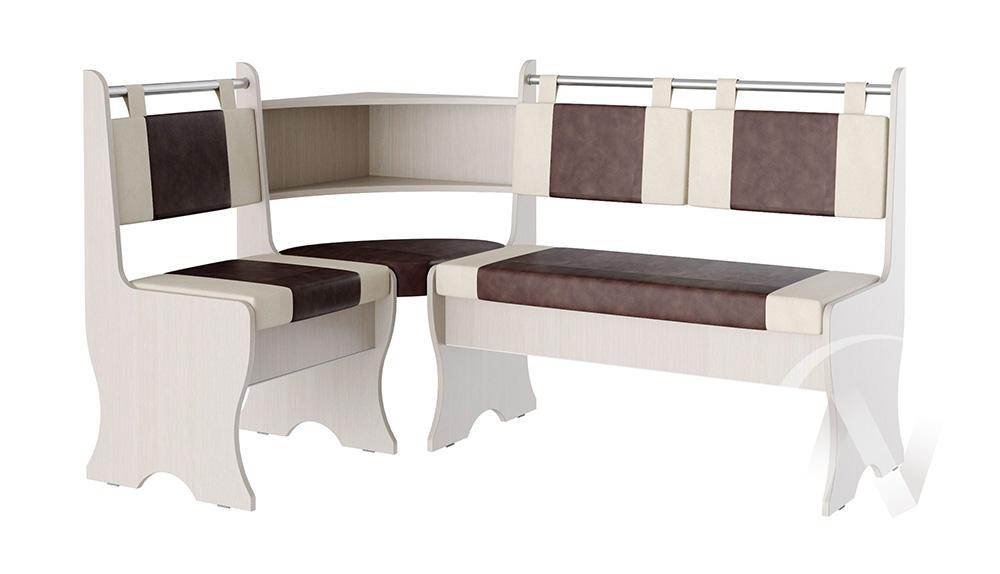 Кухонный уголок Дельта дуб/беж+гольф коричневый  в Томске — интернет магазин МИРА-мебель