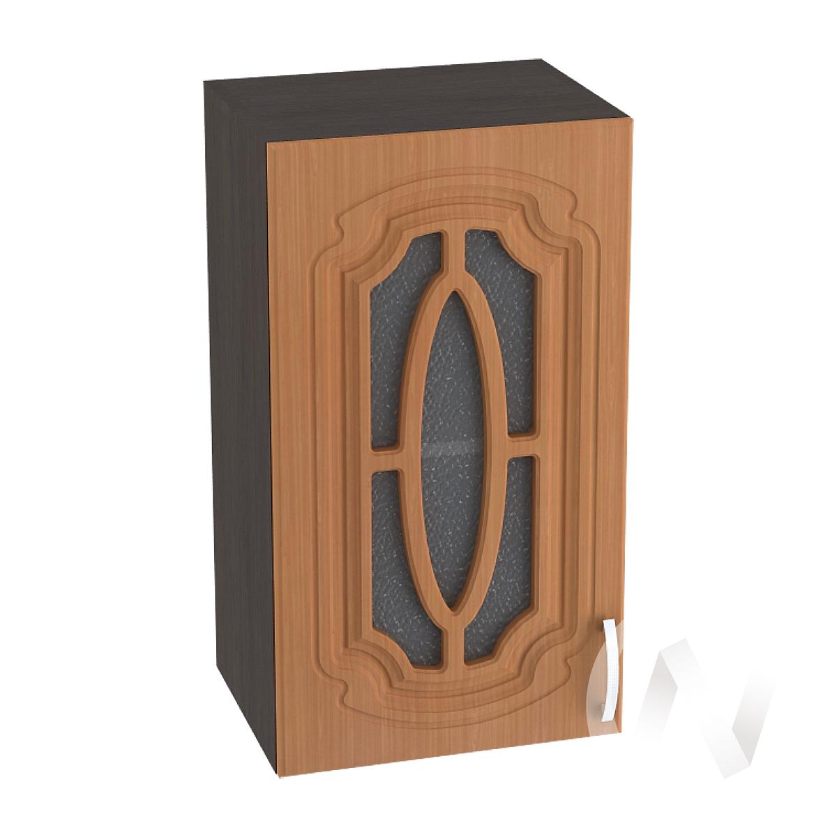 """Кухня """"Настя"""": Шкаф верхний со стеклом 400, ШВС 400 (Орех миланский/корпус венге)"""
