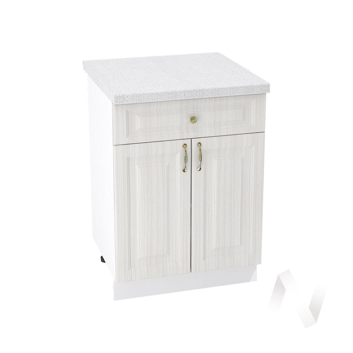 """Кухня """"Виктория"""": Шкаф нижний с ящиком 600, ШН1Я 600 М (корпус белый)"""