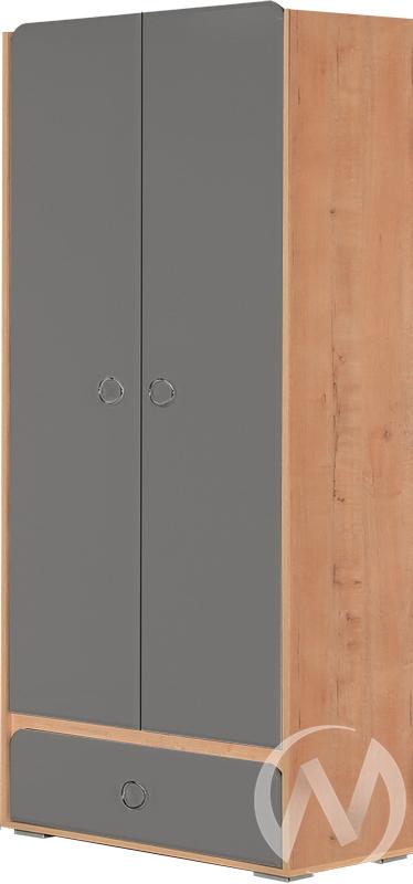 Скай М4 Шкаф 2х створчатый (дуб бунратти/графит)