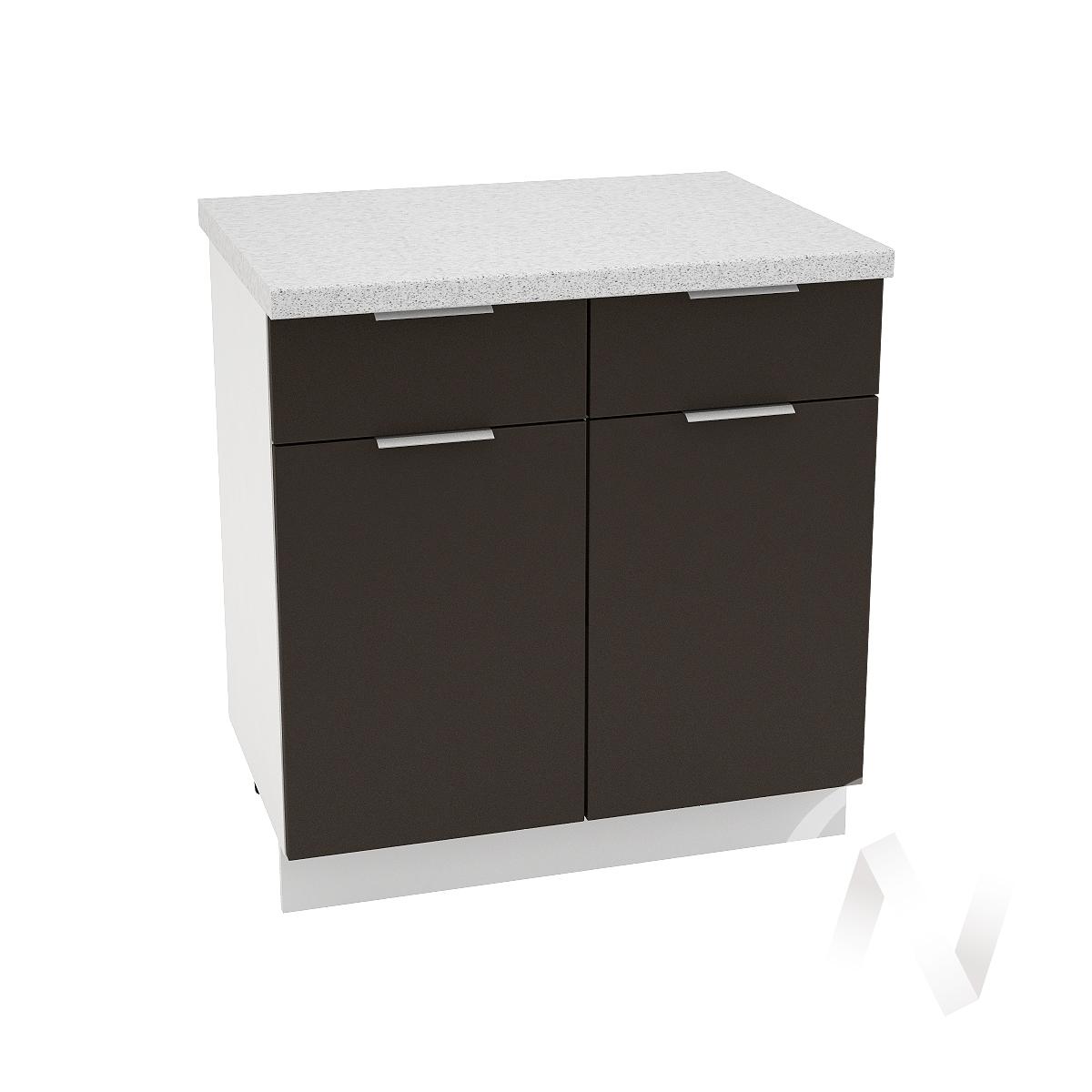 """Кухня """"Терра"""": Шкаф нижний с ящиками 800, ШН1Я 800 (смоки софт/корпус белый)"""