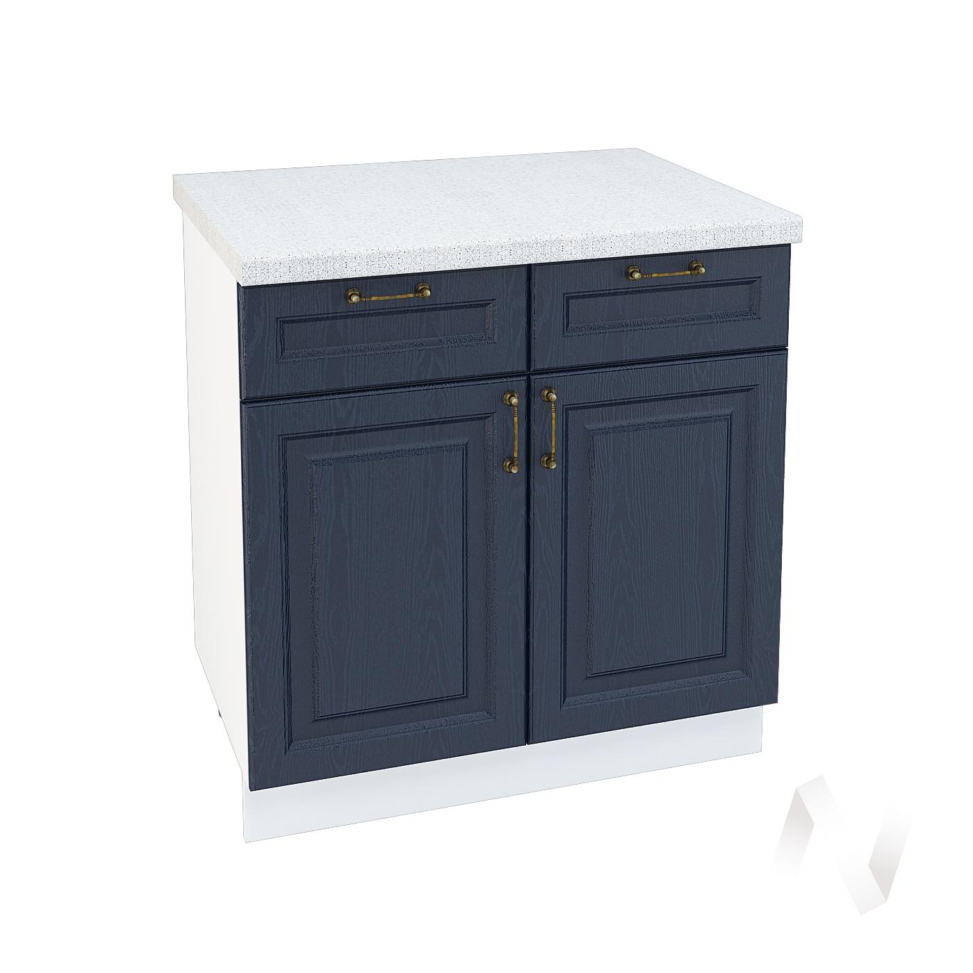 """Кухня """"Ницца"""": Шкаф нижний с ящиками 800, ШН1Я 800 (Дуб чернильный/корпус белый)"""