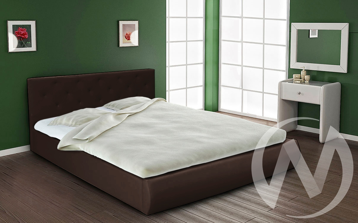 Кровать интерьерная 1,4 (темно-коричневый)  в Томске — интернет магазин МИРА-мебель