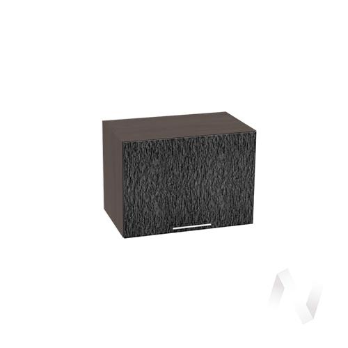 """Кухня """"Валерия-М"""": Шкаф верхний горизонтальный 500, ШВГ 500 (дождь черный/корпус венге)"""