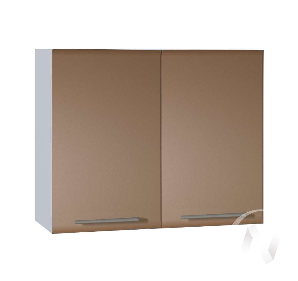 """Кухня """"Люкс"""": Шкаф верхний 800, ШВ 800 (Шоколад матовый/корпус белый)"""