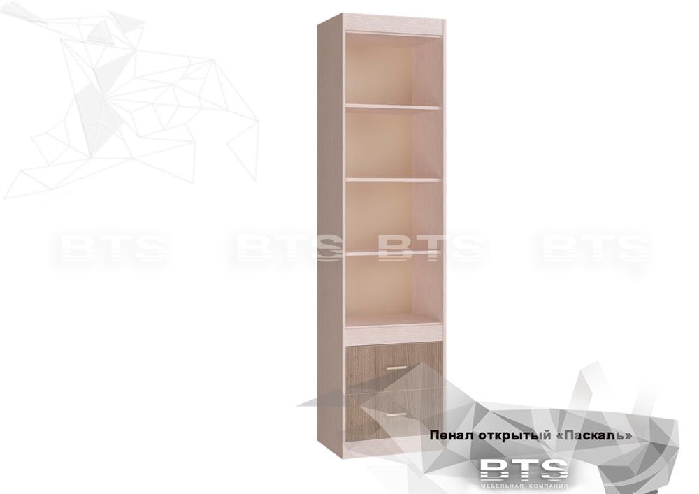 Шкаф открытый Паскаль (дуб атланта/ясень шимо)