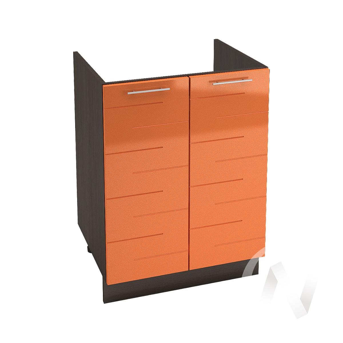 """Кухня """"Техно"""": Шкаф нижний под мойку 600, ШНМ 600 (корпус венге)"""