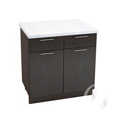 """Кухня """"Валерия-М"""": Шкаф нижний с ящиками 800, ШН1Я 800 (венге/корпус венге)"""
